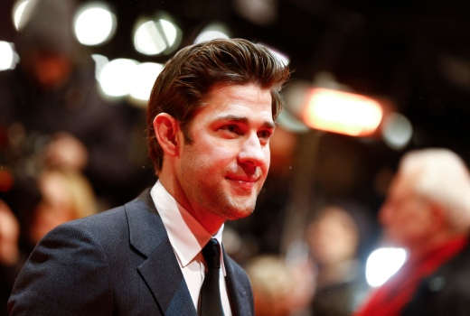 Actor John Krasinski arrives for the screening of the film 'Promised Land' at the 63rd Berlinale International Film Festival in Berlin February 8, 2013.         REUTERS/Thomas Peter (GERMANY  - Tags: ENTERTAINMENT)   - RTR3DIEY